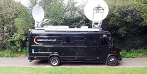 S100 SNG HD SD MPEG4 SNG Production Truck Links Broadcast Equipment