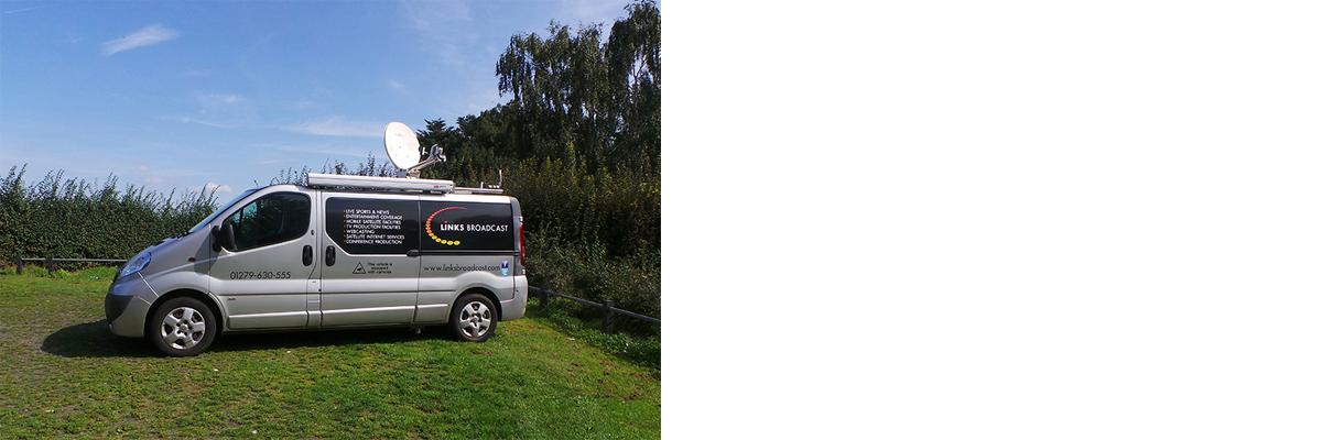 Satellite IP Services Links Broadcast