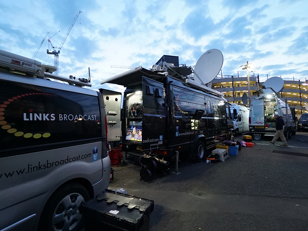 KA Production Trucks Boxing Wembley Links Broadcast
