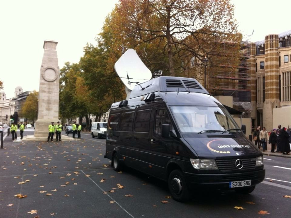 Live News Coverage Cenotaph Links Broadcast