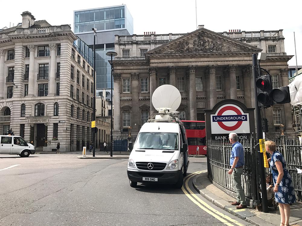 Bank Station Links Broadcast