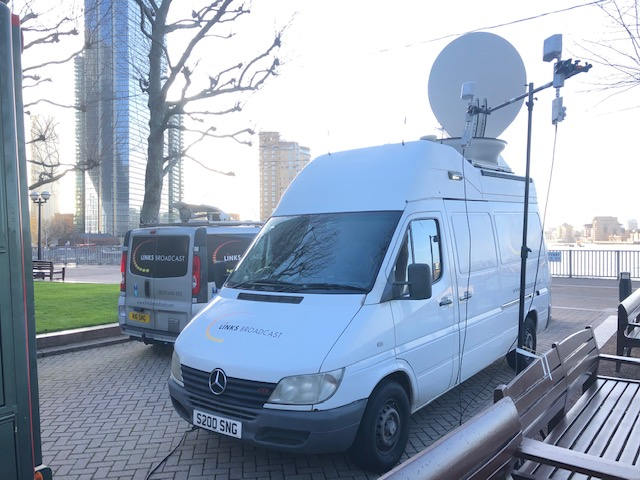 Canary Wharf Fibre Microwave Link Combined Links Broadcast