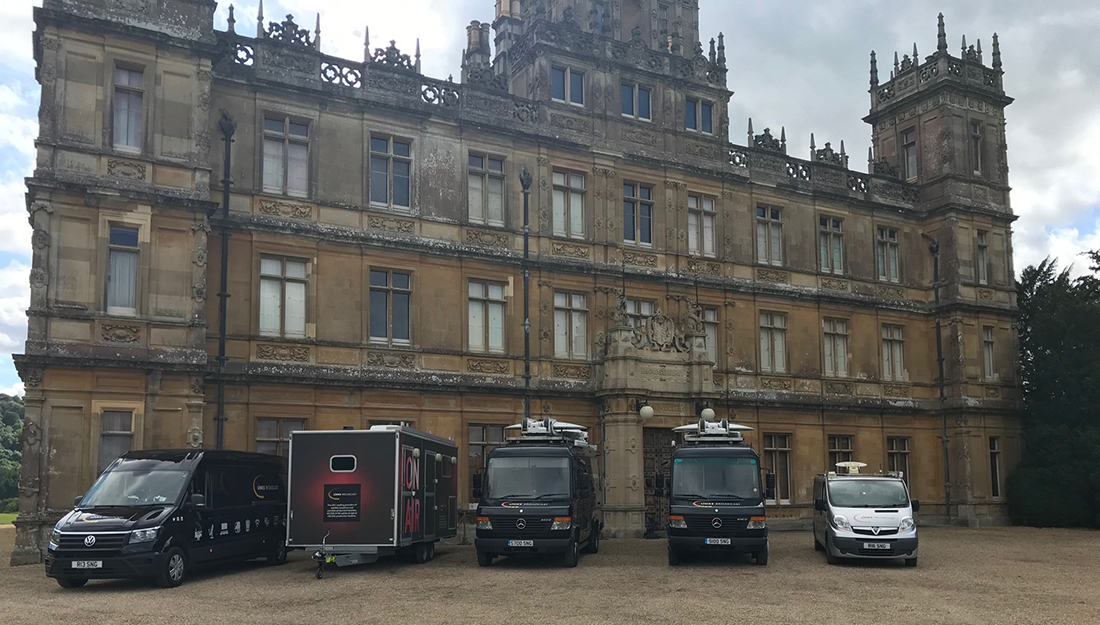 Downton Abbey OB Production Uplink Provider for ITVs This Morning Links Broadcast
