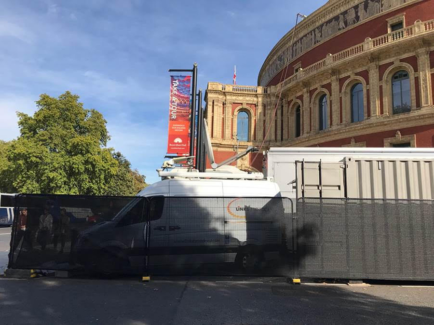 Last Night Of The Proms Satellite Uplink Facilities