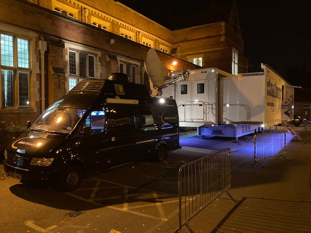 HD SNG Truck Question Time Harrow 01 Links Broadcast