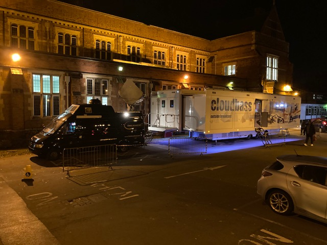 HD SNG Truck Question Time Harrow 02 Links Broadcast