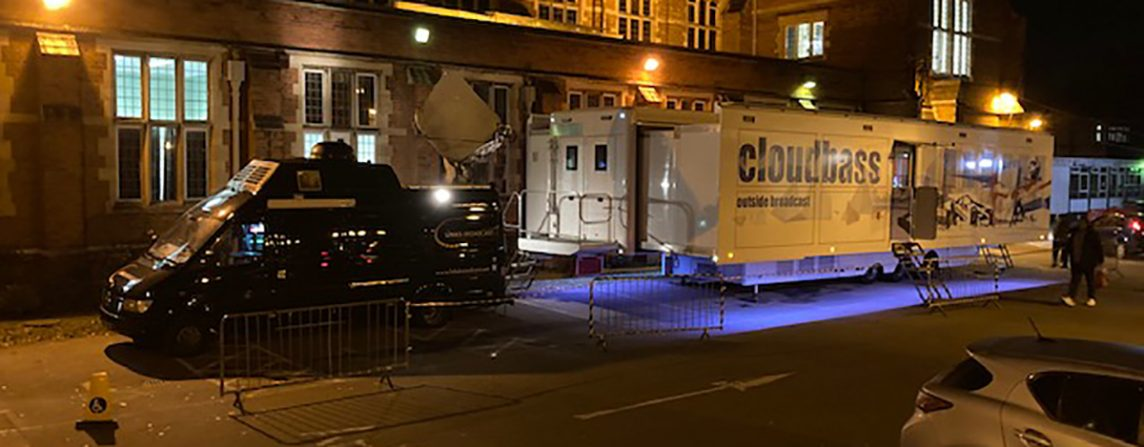 HD SNG Truck Supplied By Links Broadcast For BBC Question Time Harrow