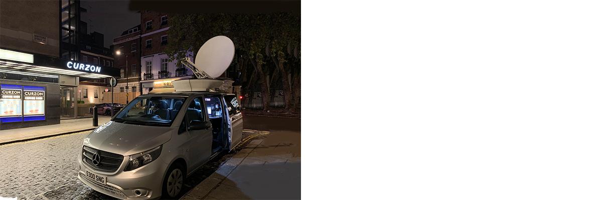 SNG Uplink Truck Links Broadcast